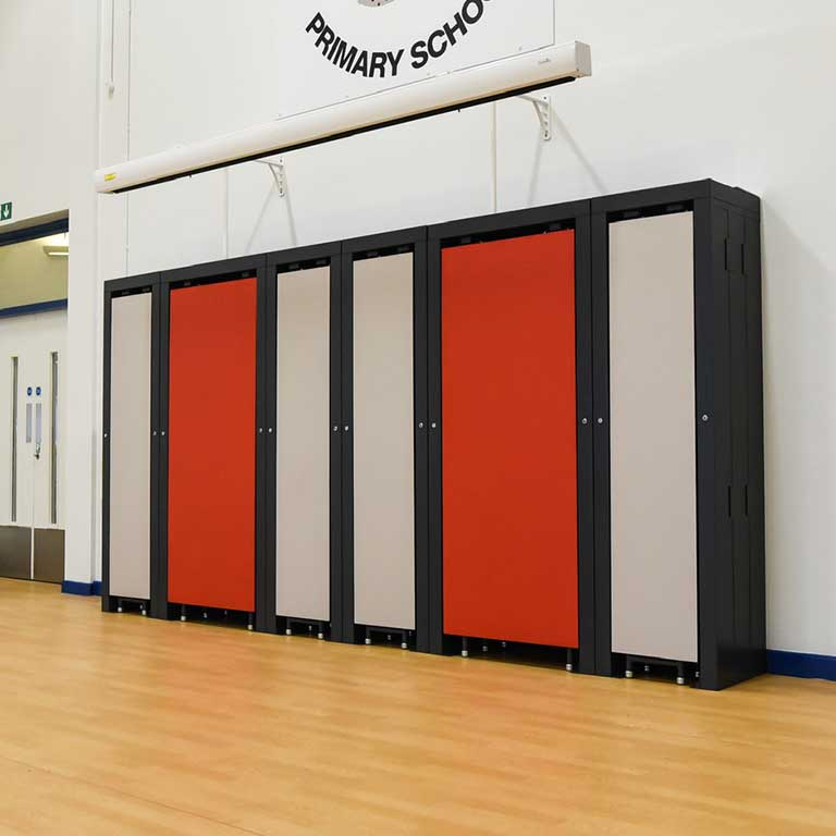 Innovate Wall Pod tables in stored position